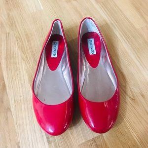 Steve Madden Red Ballet Flats Size 9 EUC